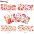 Fashionable flower water transfer nail sticker on nail art stickers for nail sticker water with full cover nail sticker