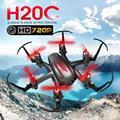 Jjrc h20c rc quadcopter con cámara 720 p 2mp rc drone remoto Helicóptero de Control 2.4G 4CH 6 Ejes Mini Drones Con Cámara HD Dron