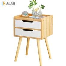 Деревянная прикроватная тумбочка в скандинавском стиле с выдвижным ящиком, органайзер, шкаф для хранения, модный мини-стол, мебель для спальни