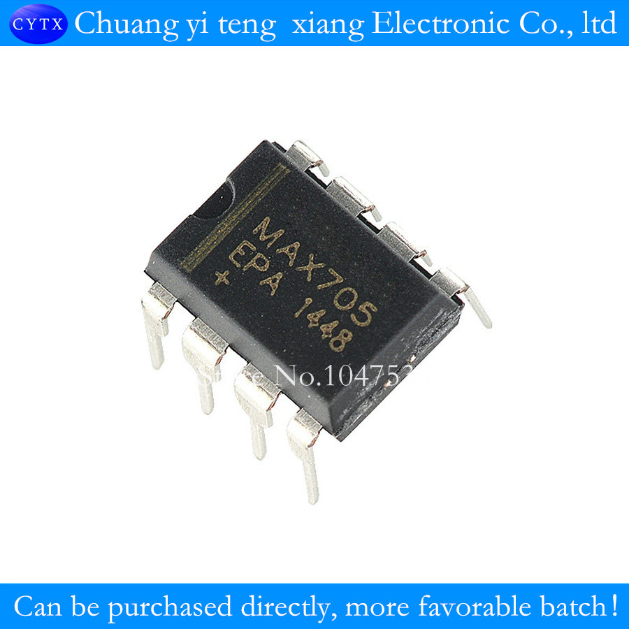 10pcs  MAX705 monitoring circuit DIP-8