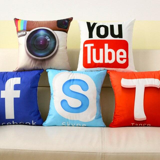 Us 9 9 Wiadomosci Blyskawicznej Kreatywny Projekt Facebook Youtube App Logo Moda Obicia Na Poduszki Dla Domu Samochod Krzeslo Sofa Sypialnia