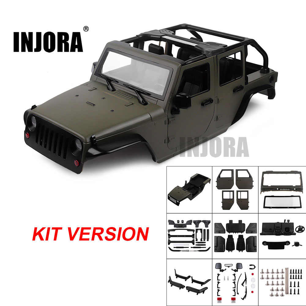 INJORA Gemonteerde Kit 313mm Wielbasis Convertible Open Auto Body Shell voor 1/10 RC Crawler Axiale SCX10 90046 Jeep Wrangler