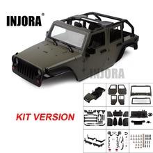 Несобранный комплект INJORA, 313 мм Колесная база, Корпус открытого кузова автомобиля для 1/10 RC Crawler Axial SCX10 90046 Jeep Wrangler