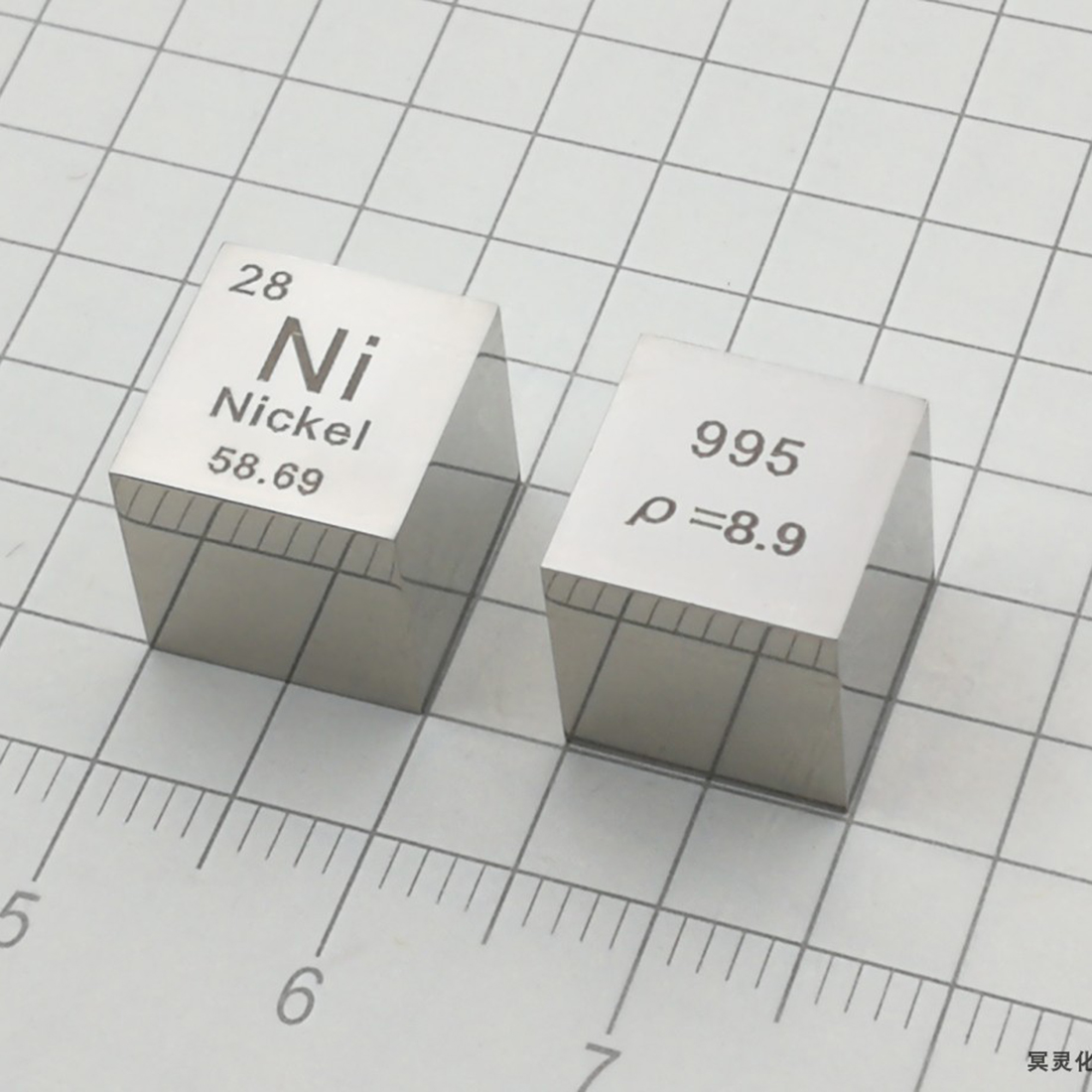 Nickel Metal periodic table of elements cube 10mm Ni≥99.5/% element collection
