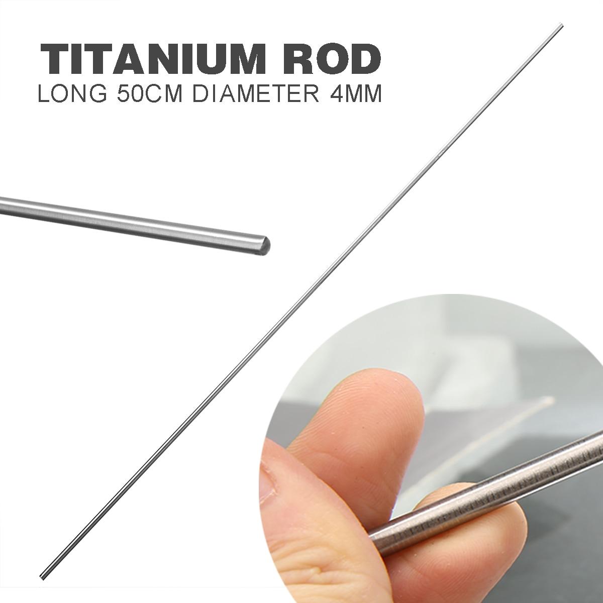 1pc New Grade 5 GR5 Titanium Ti Bar Mayitr Metal Rod Stick 50cmx4mm For Welding Tool