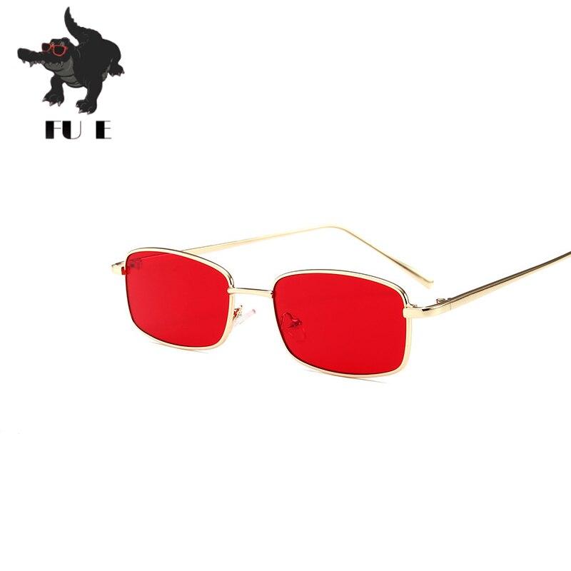 ΞFu e 2018 nuevo pequeño estrecho cuadrado retro gafas de diseño de ...