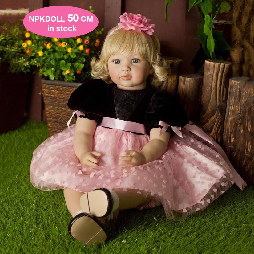 NPK DOLL 22 Inch Silicone Reborn Baby Dolls Alive Baby Fashion Dolls Toys For Girls Birthday Christmas Gifts Brinquedos little cute flocking doll toys kawaii mini cats decoration toys for girls little exquisite dolls best christmas gifts for girls