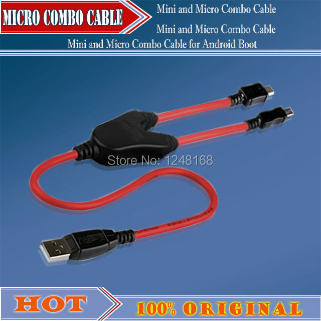 NEW China Android Boot Mini and Micro Combo Cable Work for Volcano box +HK Post Free shipping