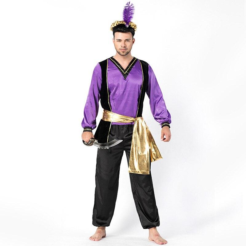 Halloween Party Adult Men Arabian Turkish Monarch Cosplay Costume Halloween Carnival Cosplay Costumes