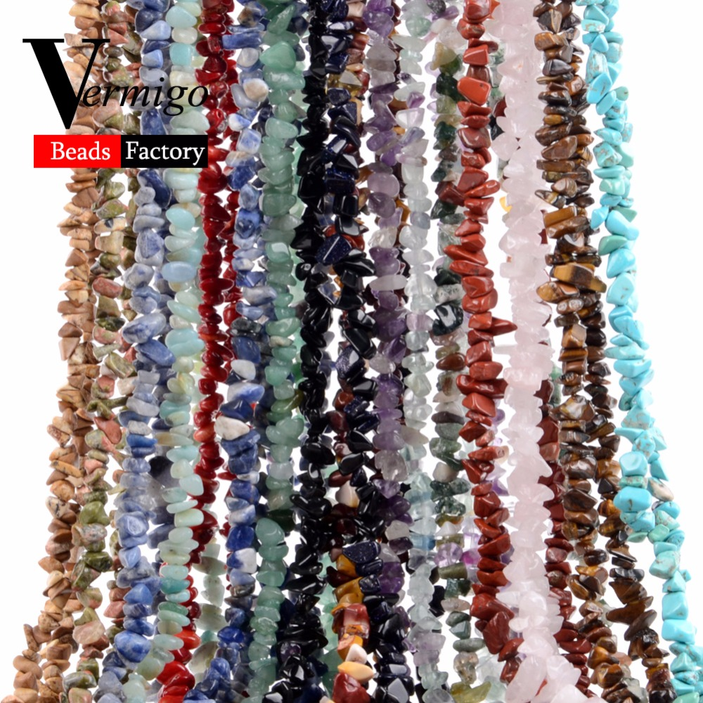 Irregular Freeform Chip Gravel Beads Natural Stone Amethysts Tiger Eye Beads For Jewelry Making 3-5-8-12mm Diy Necklace 16inches