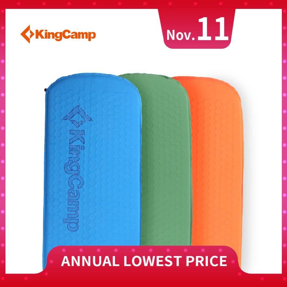 KingCamp Deluxe Air Bed Self-Inflating Damp-Proof Durable Ripstop PVC-Free Oversized Camping Mat for Outdoor Activities