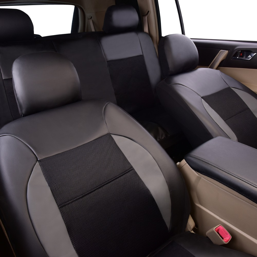 Car-pass 2019 Nuevo Fundas de Asiento de Coche de Coche de Cuero - Accesorios de interior de coche - foto 5