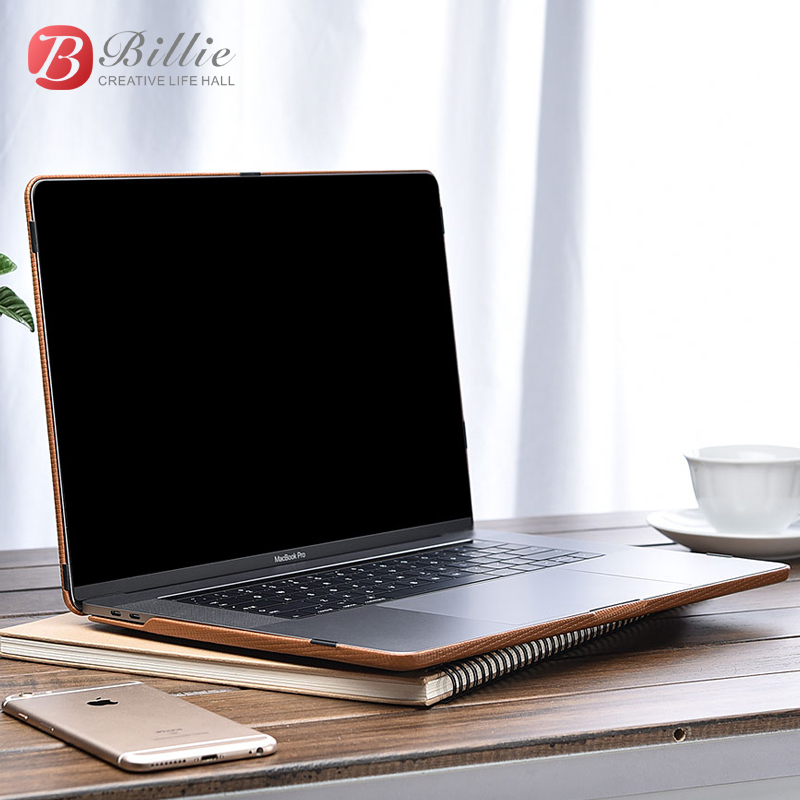 Image 5 - Genuine Leather Cover Case For MacBook Pro 15 inch New 2017 Case Sleeve Luxury Leisure Laptop Bags & Cases Protective Shell Cove-in Laptop Bags & Cases from Computer & Office