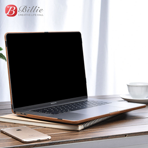 Image 5 - Genuine Leather Cover Case For MacBook Pro 15 inch New 2018 Case Sleeve Luxury Leisure Laptop Bags & Cases Protective Shell Cove