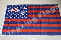 New England Patriots US flag with star and stripe 3x5 FT Banner Polyester NFL flag 3