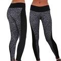 2016 Women Lady Activewear Legging Winter light grey Black Push Up Pant High Waist Legging Soft Workout Pants Plus Size