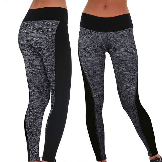 385a38b846df6 2016 Women Lady Activewear Legging Winter light grey Black Push Up Pant  High Waist Legging Soft