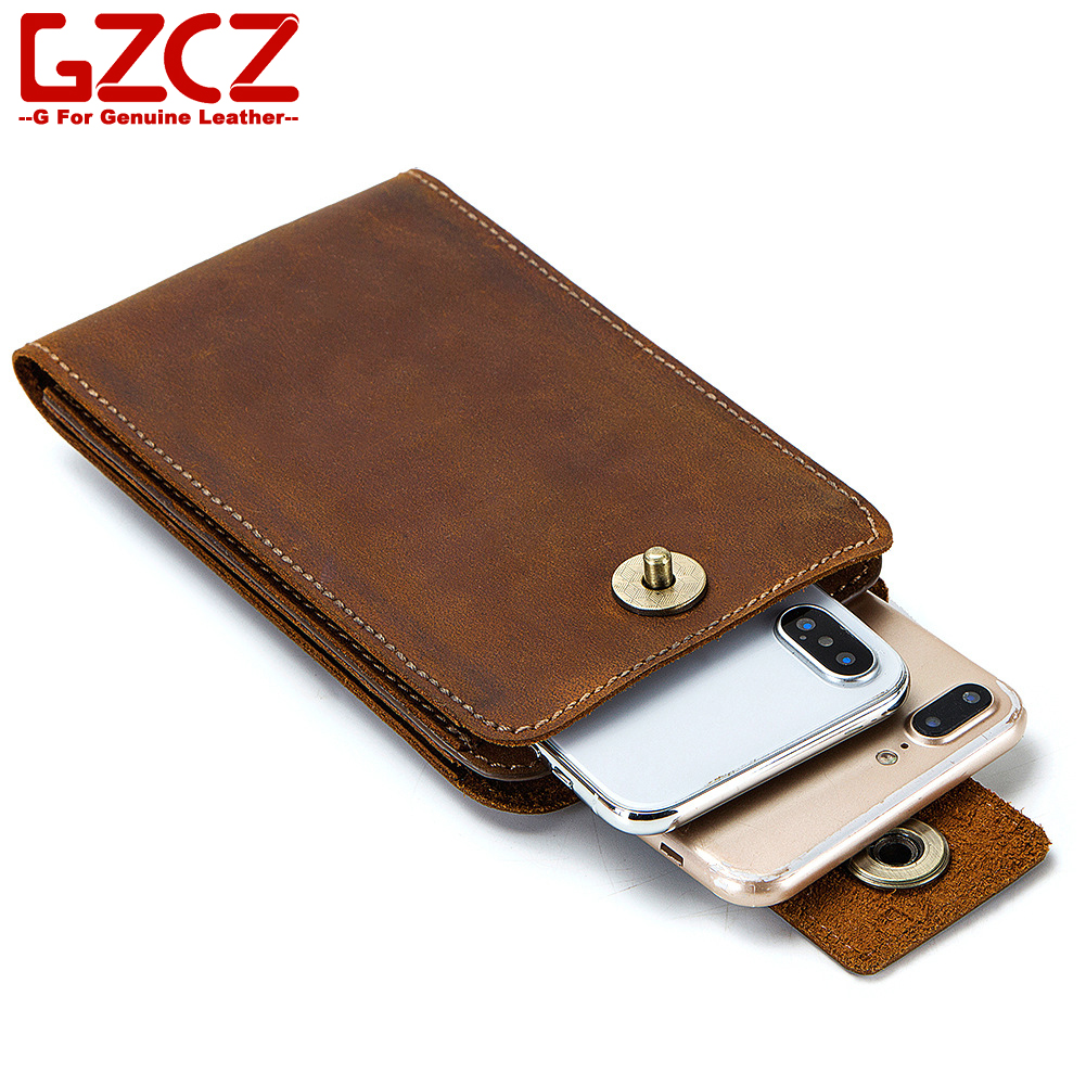 Wallet Key-Holder Coin-Purse Mobile-Phone-Bag Slim Pocket Crazy-Horse Hot-Sale Fashion