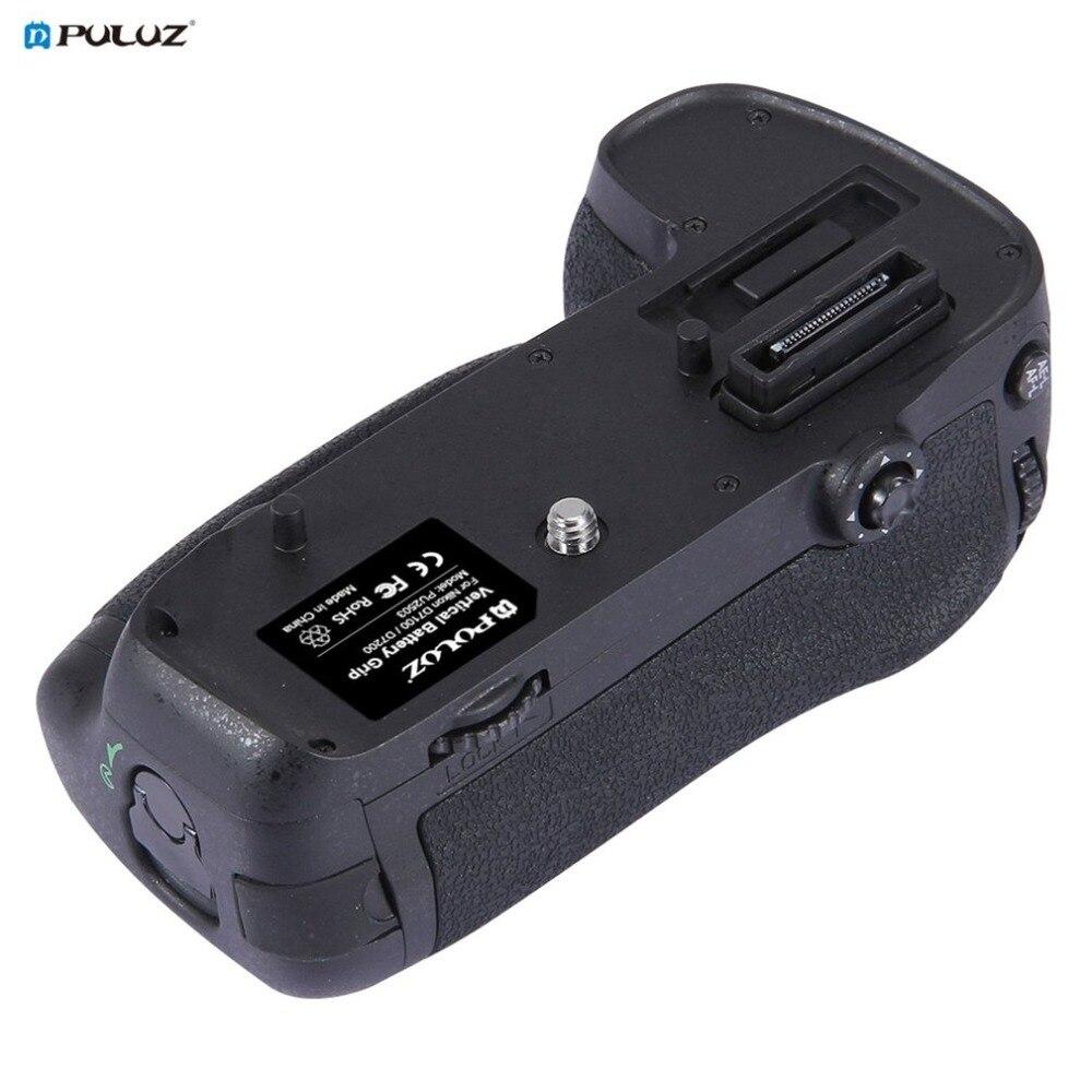 PULUZ PU2503 Vertical Replacement Camera Battery Grip Battery Holder for Nikon D7100 / D7200 Digital SLR Camera