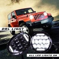 7 светодиодный круглый 75 Вт светодиодный фар H4 высокий низкий пучок Внешнее освещение для бездорожья 4x4 Jeep wrangler Jk Tj Лада Нива DC 12 В 24 В J3