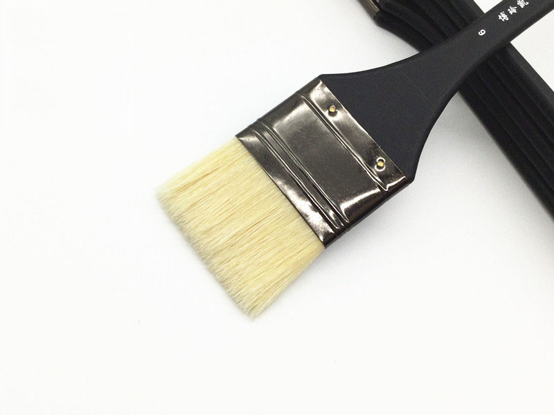 6pcs/Set,High Quality bristle brush painting flat brush acrylic brush Shading brush Set Drawing Art Supplies free shipping