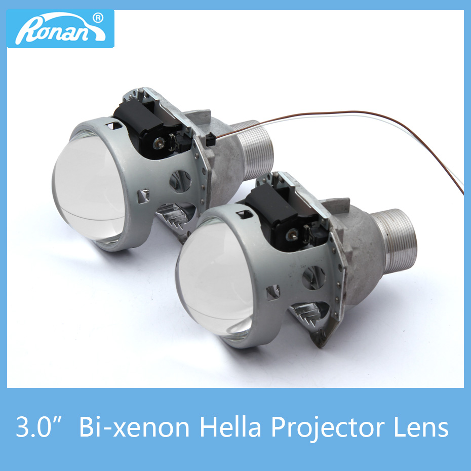 RONAN 3.0 Bi-xenon H4 Head Lights Projector Lens HID Mini D2S Car Styling DIY for Hella Lens Mask FIT D2S D2H HID Bulbs new m803 2 5 car motorcycle universal headlights hid bi xenon projector kit and m803 hid projector lens for free shipping