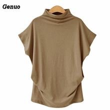 Women Casual Plus Size Tshirt 2018 Femme New Turtlneck Loose Bat Sleeve Tee Shirt Tunics Genuo Summer Womens Clothing 6XL 5XL