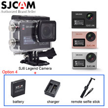 SJCAM SJ6 Legend Action Camera Gyro Waterproof 2″ Touch LCD 4K WiFi Sport Camcorder DV+Extra Battery+Charger+Remote Selfie Stick