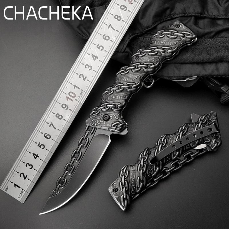 CHACHAKA Cool Chain Tactical Outdoor Folding Knife Survival High Hardness Pocket Knives Hunting Camping Faca Kitchen Supplies chachaka cool chain tactical outdoor folding knife survival high hardness pocket knives hunting camping faca kitchen supplies
