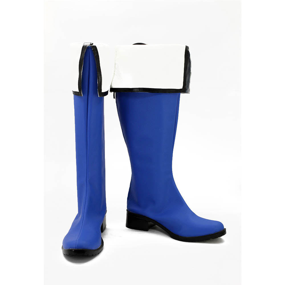 Kyokai no Kanata Nase Mitsuki boots cosplay Shoes Cosplay Blue boots For Women Men