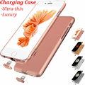 Lujo cubierta de la caja de batería recargable para iphone 6 s 6 más Caso del cargador de Copia de seguridad Duro Inteligente Clip Extra de Regalo Original enchufe