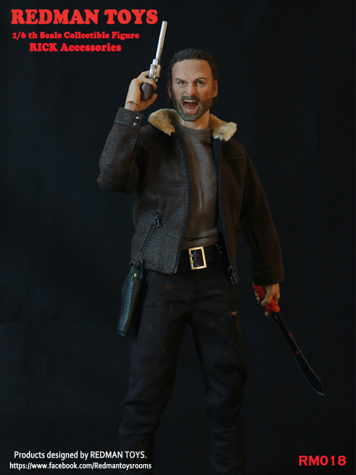 1/6 male figure Accessories The Walking Dead angry Sheriff RICK Head Sculpt with clothes sets for 12 Action figure doll No box брелок автосигнализации sheriff 2500 ver 1