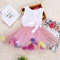 Новый девочка одежда мода бантом цветок платье принцессы для летнего детского малышей конфеты цветов туту платье