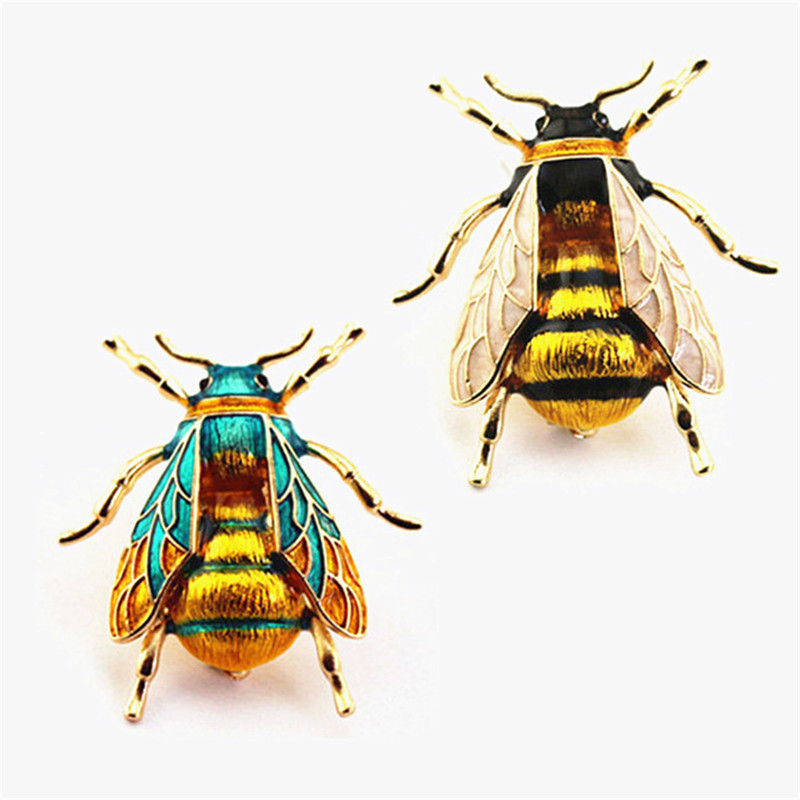 Vintage Exaggerated Enamel Bumblebee Men's And Women's Brooch Couple Boutonniere  Holiday Gift