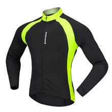 цена на WOSAWE High Visibility Cycling Jerseys Men Long Sleeve Maillot Ciclismo Bike Bicycle Cycle Breathable Outdoor Sports Clothing