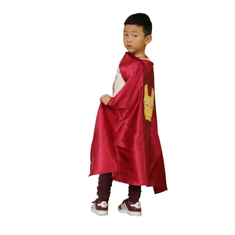 2017 nouveau Ironman enfants Kigurumi Costumes Superman brillant cape enfants Halloween fête ludique ensemble carnaval cadeau d'anniversaire