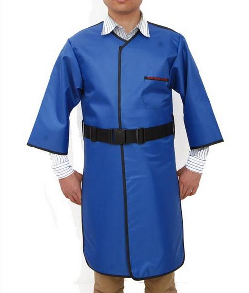 0.35 MMPB 2 sides X-ray protection long sleeves clothing,front and rear body protective suit.Clinic work clothes.