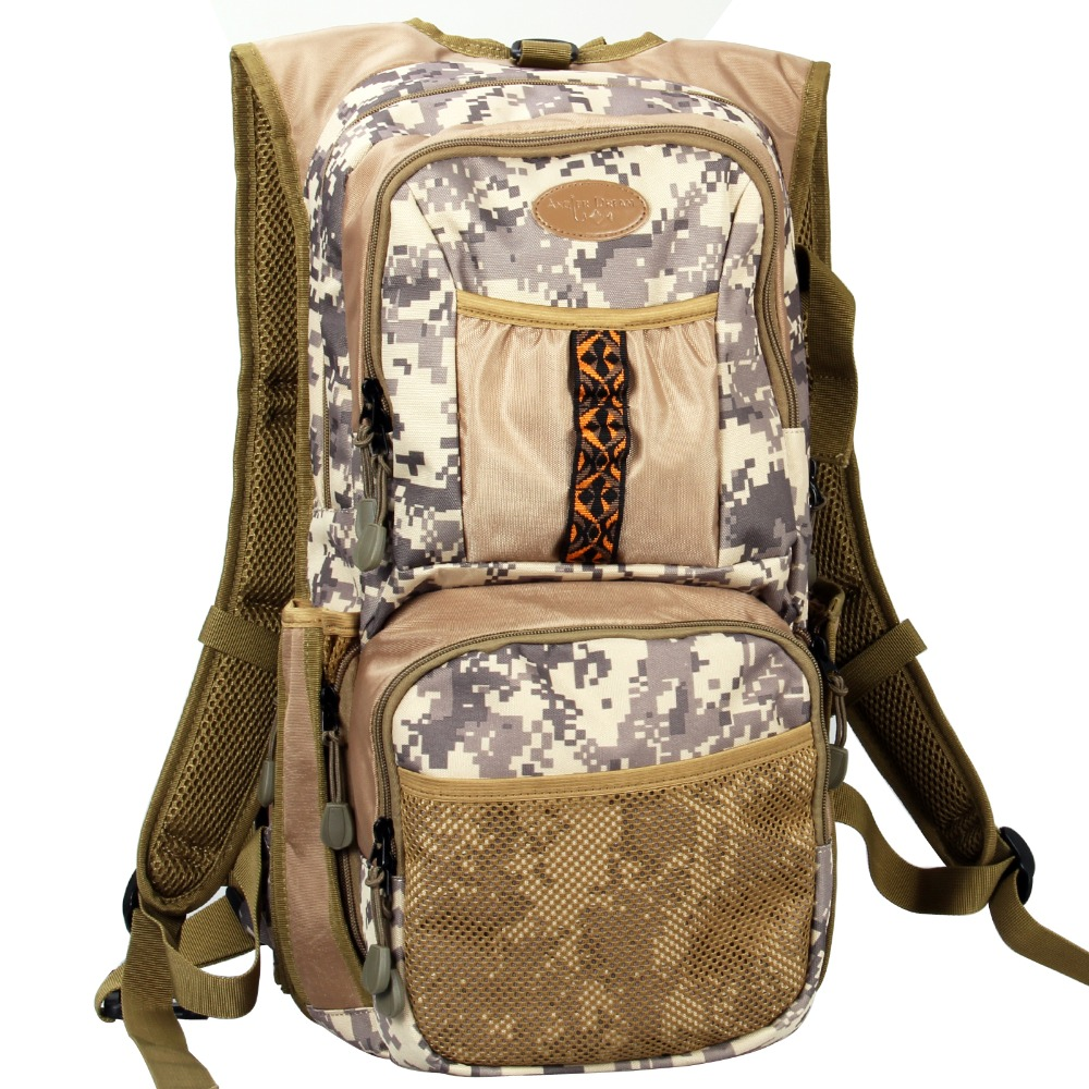 Camo Fly Fishing Back Pack Adjustable Size Outdoor Sports Fishing Bag General Size Mutiple Pocket Hiking Hunting цена 2017