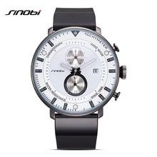 SINOBI Brand Men s Fashion Casual Sport Watches Men Waterproof Stopwatch Quartz Watch Male Business Clock