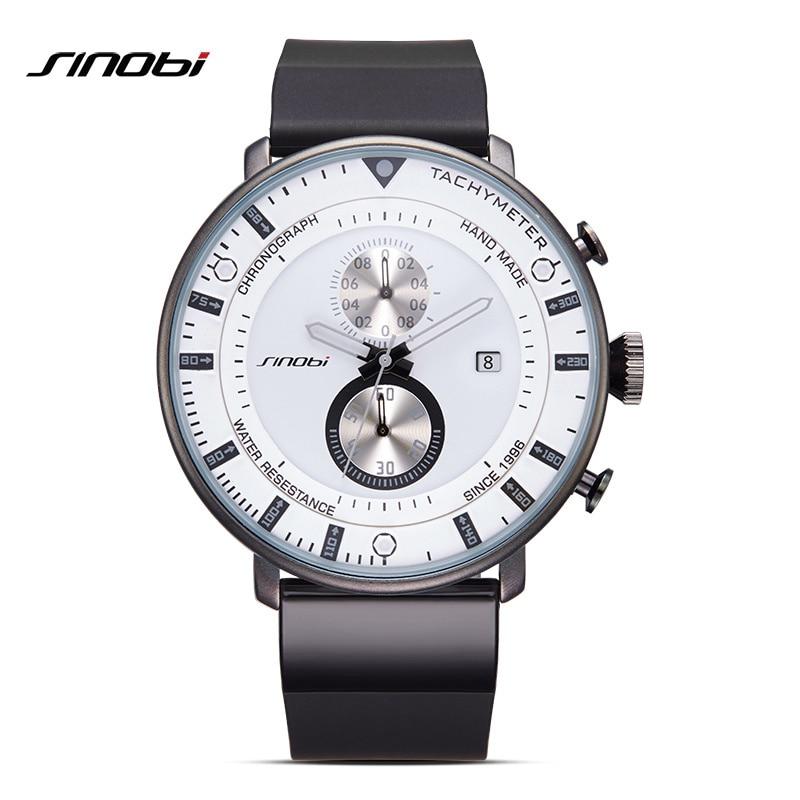 SINOBI Brand font b Men s b font Fashion Casual Sport font b Watches b font