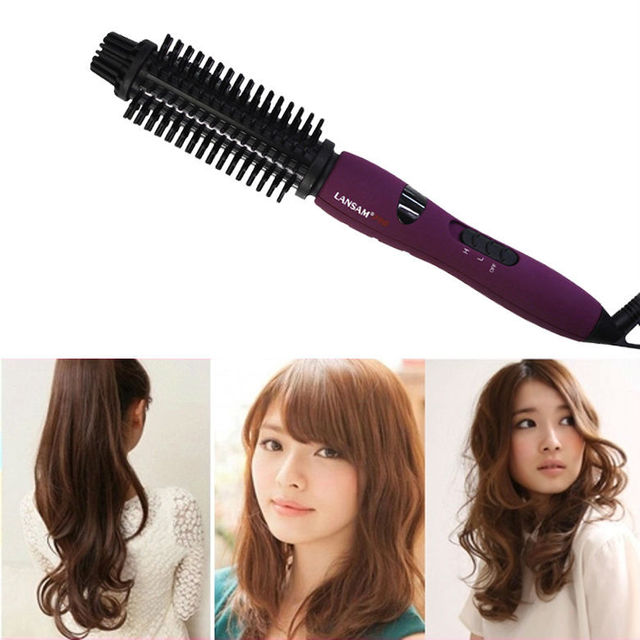 Fast Shipping As Seen On Tv Ceramic Electronic Hair Curler Purple Curling Iron With Eu Plug