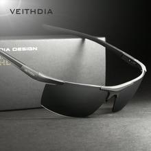 Солнцезащитные очки VEITHDIA из алюминиево-магниевого сплава, поляризационные мужские солнцезащитные очки без оправы с зеркальным покрытием, мужские очки, аксессуары 6588