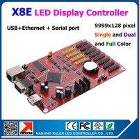 kaler China manufacturer Kaler X8E led display controller card support 9999x128 pixel with usb+ serial + ethernet connector
