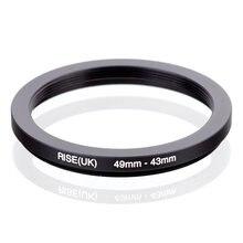 RISE(UK) 49 мм 43 мм 49 43 мм 49 до 43 понижающее кольцо адаптер для фильтра черного цвета