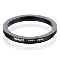 RISE (UK) 49mm-43mm 49-43mm 49 para 43 Step down Anel Adaptador Filtro preto