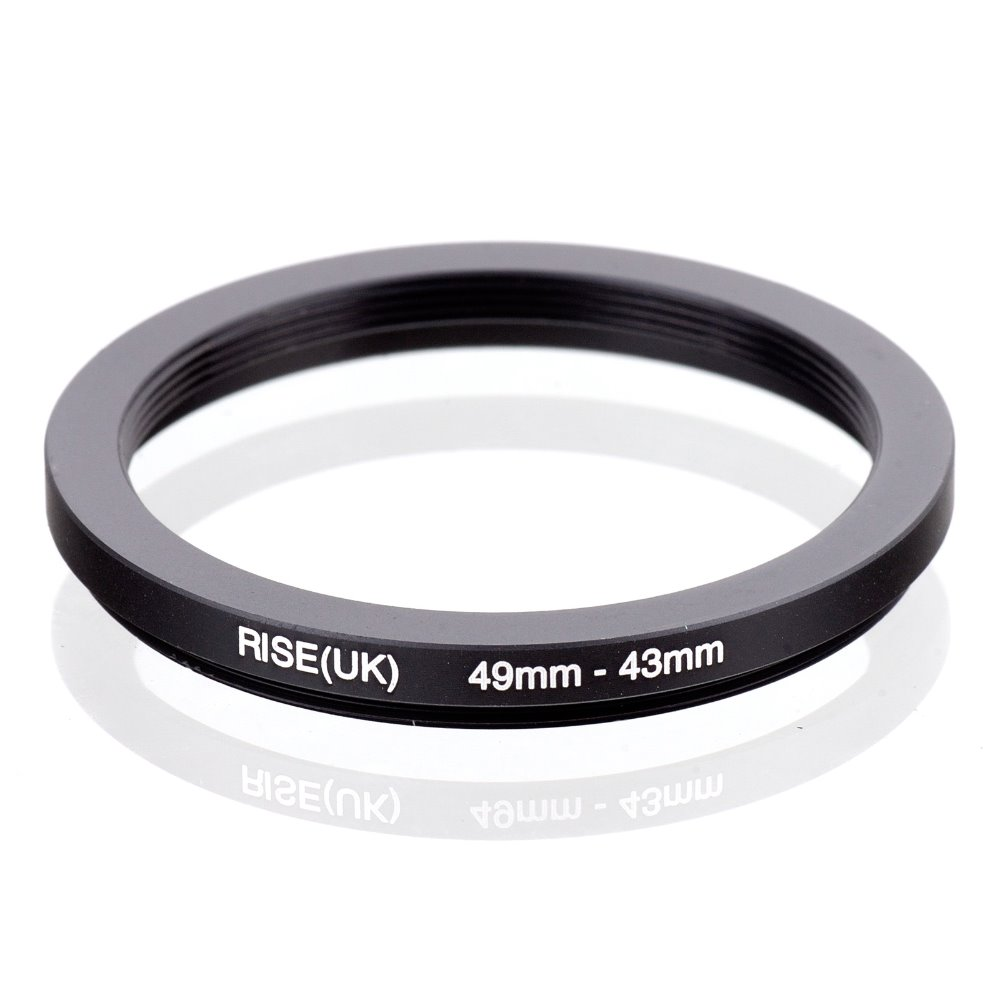 RISE(UK) 49mm-43mm 49-43mm 49 To 43 Step Down Ring Filter Adapter Black