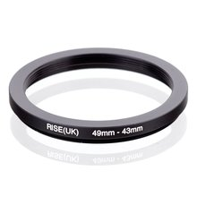 RISE(UK) 49mm 43mm 49 43mm 49 to 43 Step down Ring Filter Adapter black