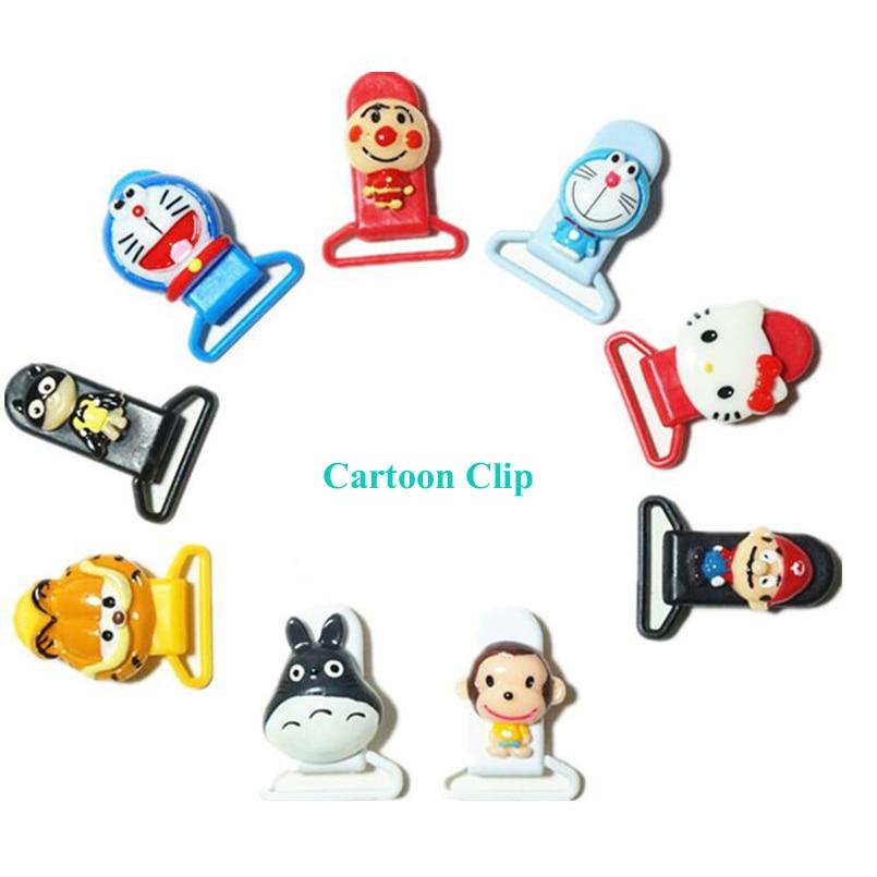 Klip Pacifier Cute Dummy Pacifier Holder Customized Baby Cartoon Bibs - Memakan kanak-kanak - Foto 3