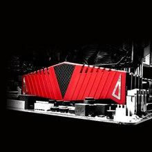 1 סט RAM אדום רדיאטור רדיאטור קריר קירור גוף קירור 40x126mm עבור שולחן העבודה זיכרון DDR2 DDR3 DDR4 חום פיזור