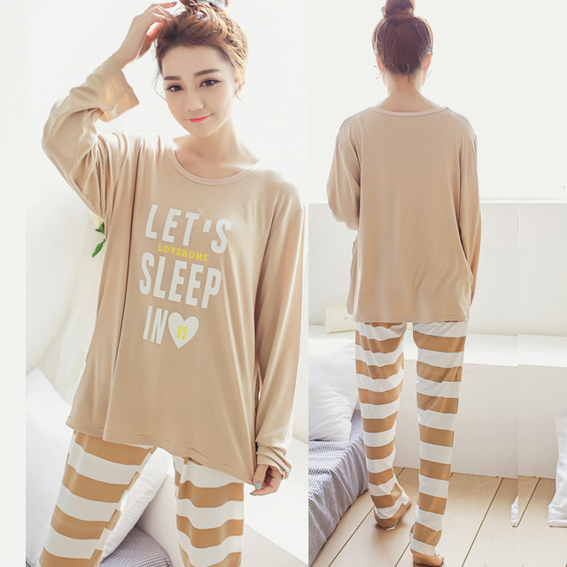 Hotsale Mulheres Conjuntos de Algodão De Seda Pijamas Pijamas Define Mulheres Pijama Conjuntos de Pijama Mulheres Camisola Moda Estilo Suave Pijama Femme
